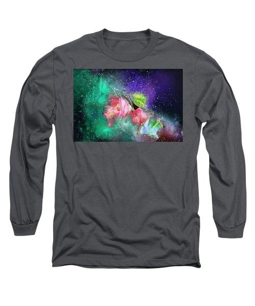 Camellias In A Galaxy Far Far Away Long Sleeve T-Shirt
