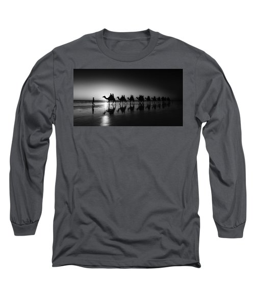 Long Sleeve T-Shirt featuring the photograph Camels On The Beach by Chris Cousins