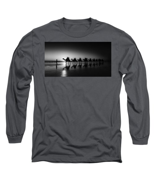 Camels On The Beach Long Sleeve T-Shirt