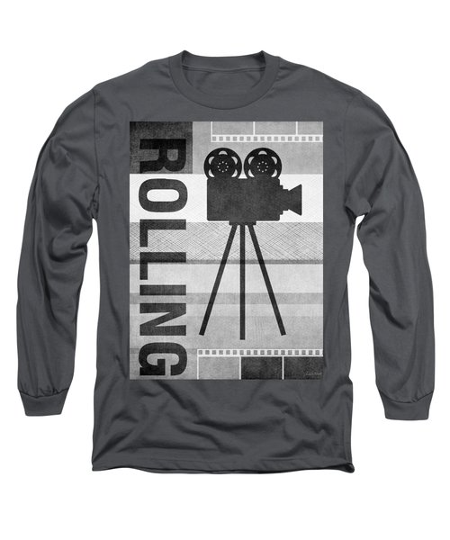 Cameras Rolling- Art By Linda Woods Long Sleeve T-Shirt