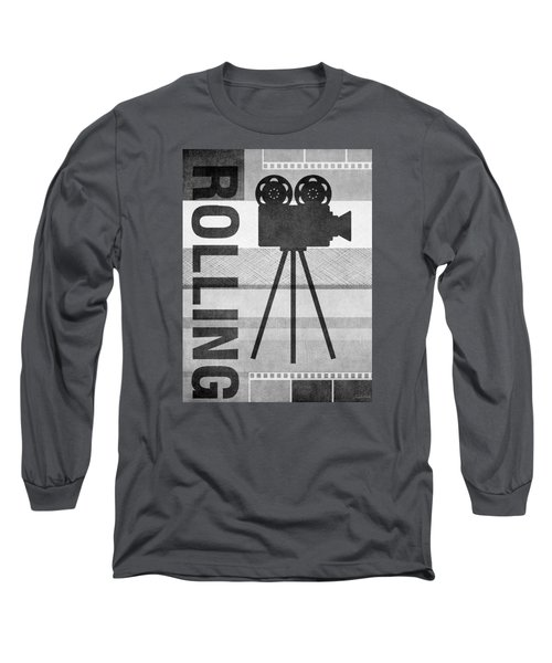 Cameras Rolling- Art By Linda Woods Long Sleeve T-Shirt