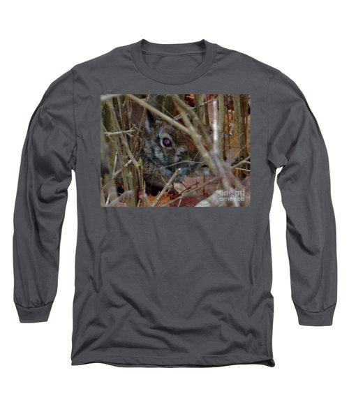 Long Sleeve T-Shirt featuring the photograph Camo Bunny by Rockin Docks Deluxephotos