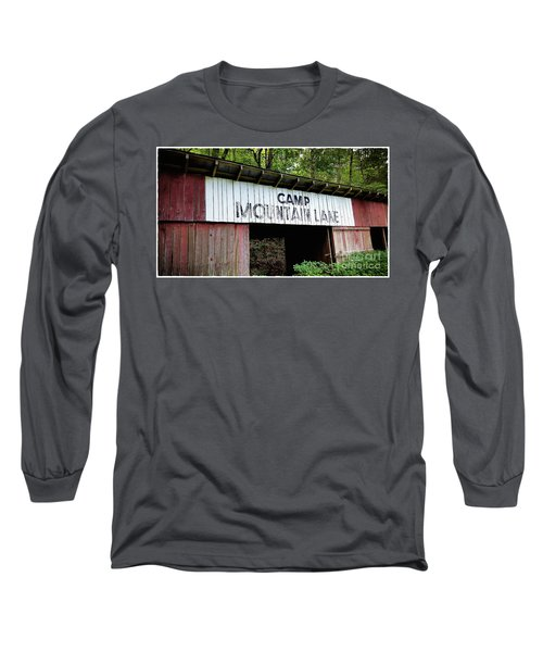 Camp Mountain Lake Horse Stables - Vintage America Long Sleeve T-Shirt