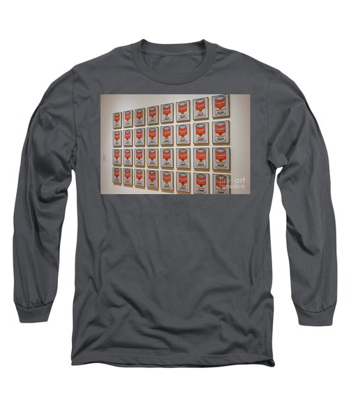 Long Sleeve T-Shirt featuring the photograph Campbell Soup By Warhol by Patricia Hofmeester