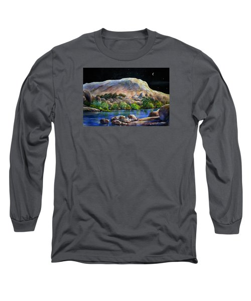 Camping In The Moonlight Long Sleeve T-Shirt