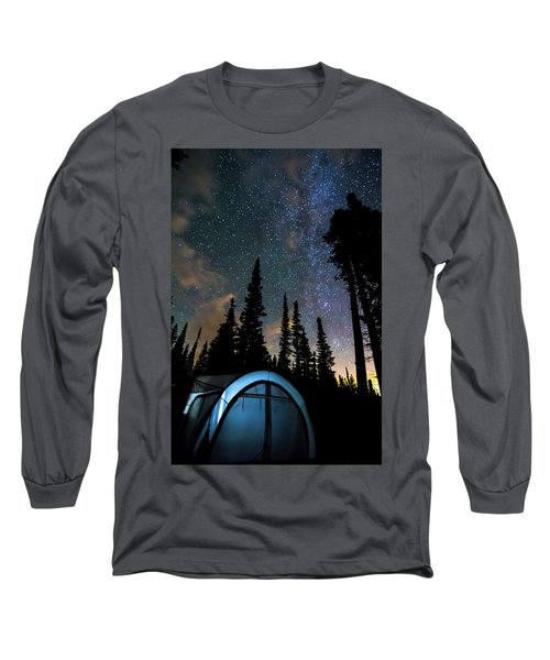 Long Sleeve T-Shirt featuring the photograph Camping Star Light Star Bright by James BO Insogna