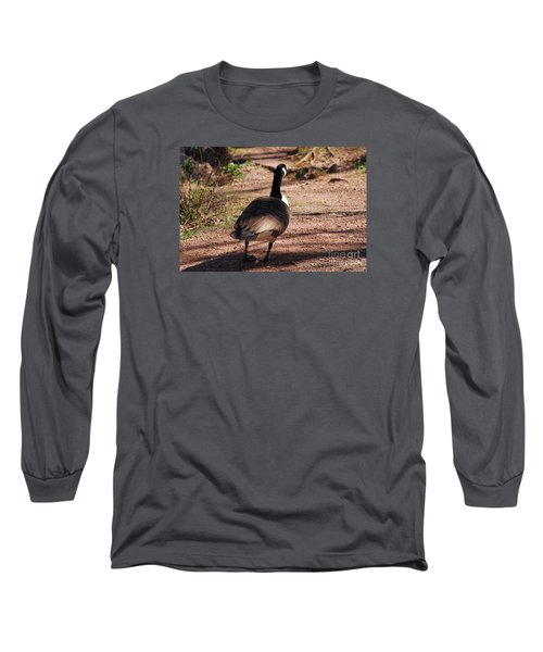 Long Sleeve T-Shirt featuring the photograph Canada Goose 20120406_63a by Tina Hopkins