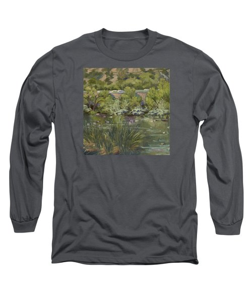 Canadian Geese La River Long Sleeve T-Shirt by Jane Thorpe