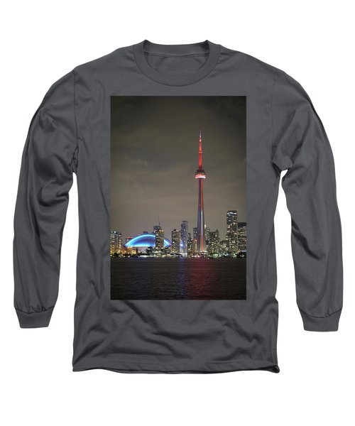 Canadian Landmark Long Sleeve T-Shirt by Nick Mares