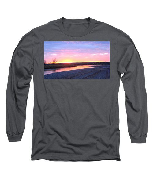 Canadian River Sunset Long Sleeve T-Shirt