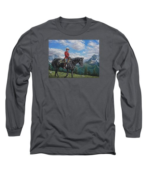 Long Sleeve T-Shirt featuring the painting Canadian Majesty by Kim Lockman
