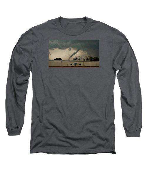 Canadian Tx Tornado Long Sleeve T-Shirt by Ed Sweeney
