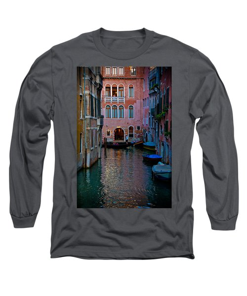 Canal At Dusk Long Sleeve T-Shirt by Harry Spitz
