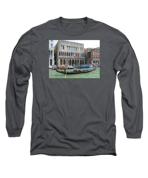 Canal Of Venise Long Sleeve T-Shirt by Lisa Boyd