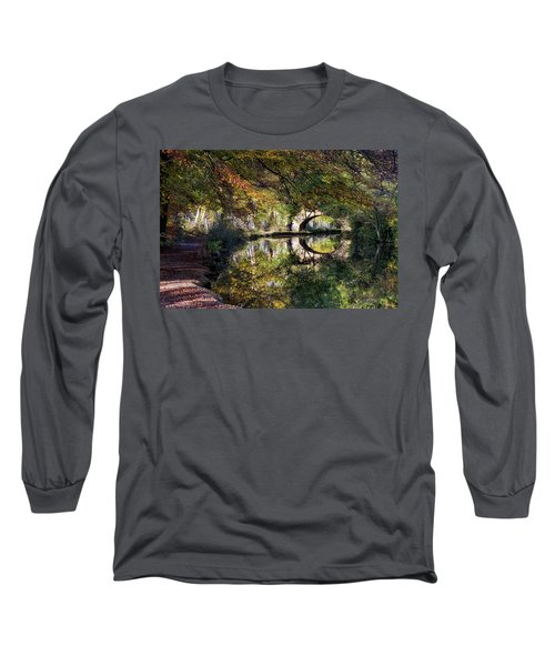 Canal Path In Autumn Long Sleeve T-Shirt