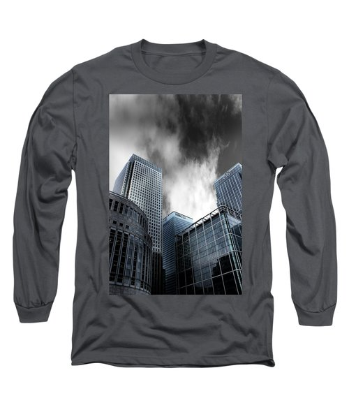 Canary Wharf Long Sleeve T-Shirt by Martin Newman