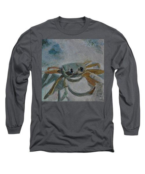 Long Sleeve T-Shirt featuring the painting Cancer's Are Not Crabby by Billie Colson