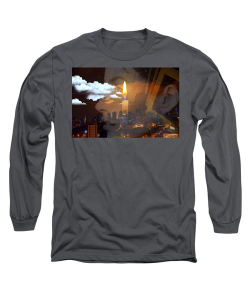 Candle Flame Long Sleeve T-Shirt by Paulo Zerbato