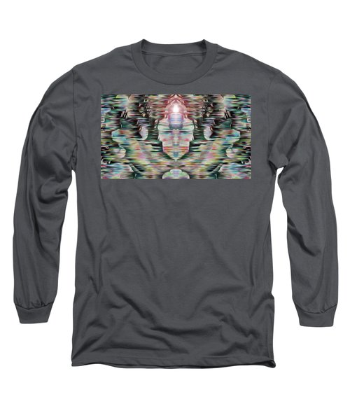 Long Sleeve T-Shirt featuring the digital art Alignment by Mark Greenberg