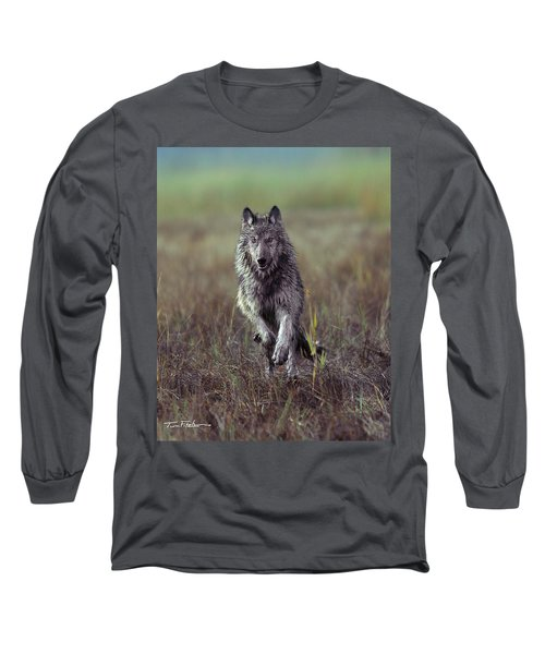 Canis Lupus Long Sleeve T-Shirt by Tim Fitzharris