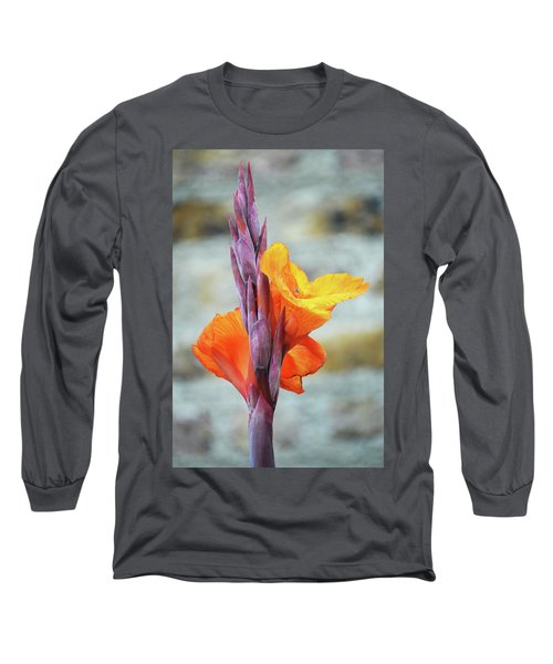 Long Sleeve T-Shirt featuring the photograph Cannas by Terence Davis