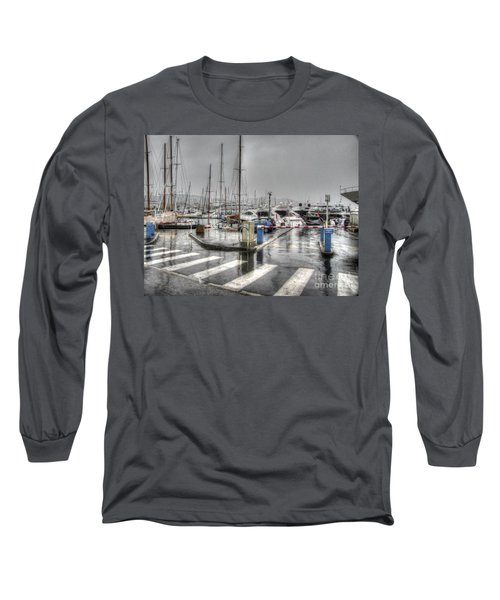 Cannes Street Rain Long Sleeve T-Shirt