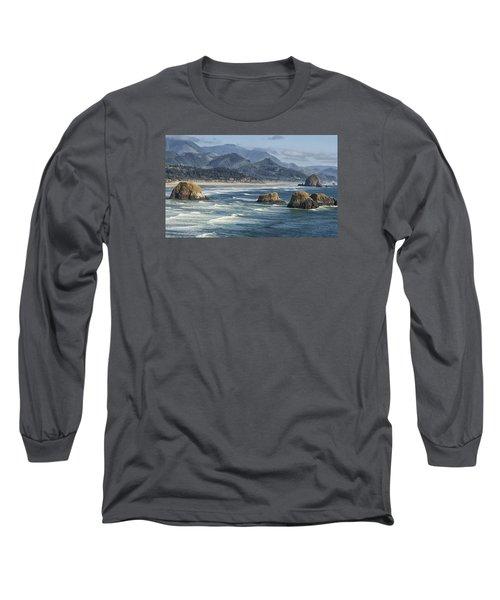 Cannon Beach 0192 Long Sleeve T-Shirt by Tom Kelly