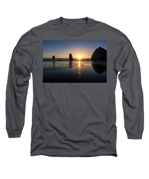 Cannon Beach Sunset Long Sleeve T-Shirt