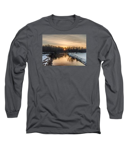 Cannon River Sunrise Long Sleeve T-Shirt by Dan Traun