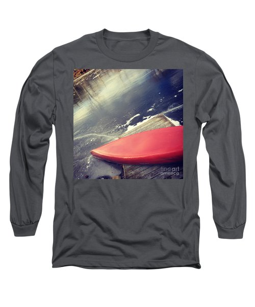 Canoe Say Winter Is Here Long Sleeve T-Shirt by Jason Nicholas