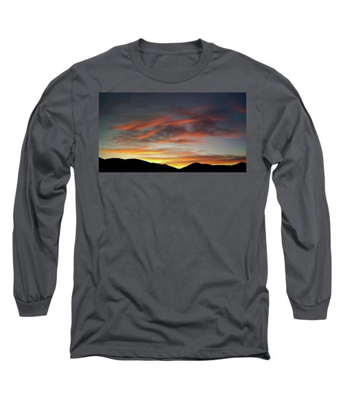 Canyon Hills Sunrise Long Sleeve T-Shirt