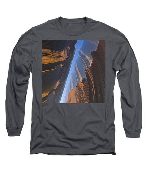 Long Sleeve T-Shirt featuring the digital art Canyon by Lyle Hatch