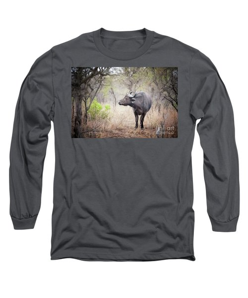 Cape Buffalo In A Clearing Long Sleeve T-Shirt