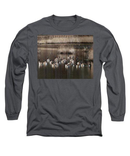 Cape Cod Americana Canada Geese Long Sleeve T-Shirt