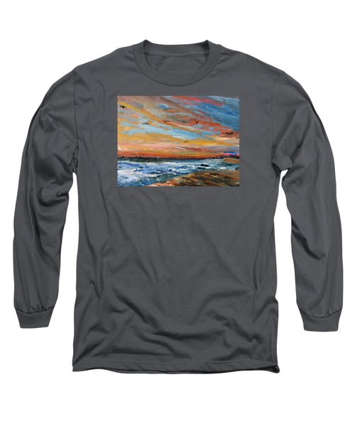 Cape Cod Sunrise Long Sleeve T-Shirt by Michael Helfen