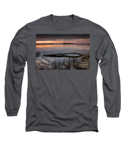 Cape Fear Sunset Serenity Long Sleeve T-Shirt by Phil Mancuso