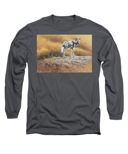 Cape Hunting Dog Long Sleeve T-Shirt
