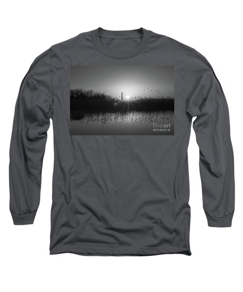 Cape May Light Bw Long Sleeve T-Shirt