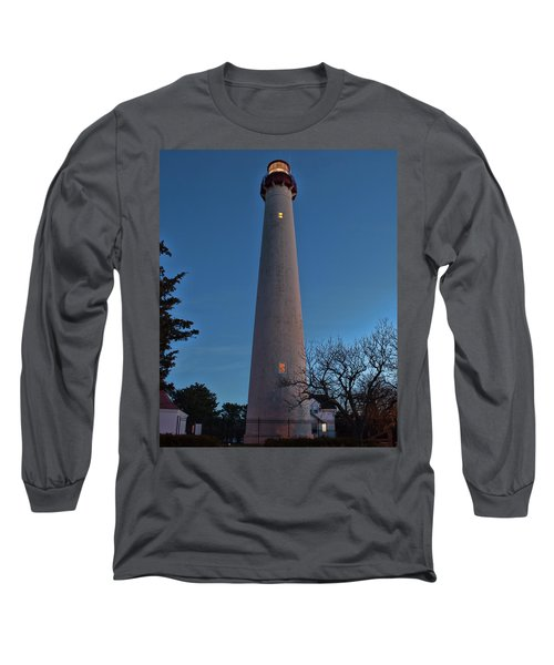 Cape May Lighthouse In Evening Long Sleeve T-Shirt