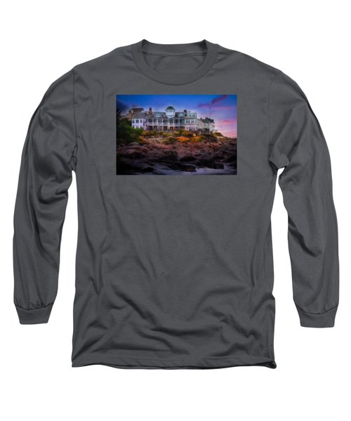 Long Sleeve T-Shirt featuring the photograph Cape Neddick Maine Scenic Vista by Shelley Neff