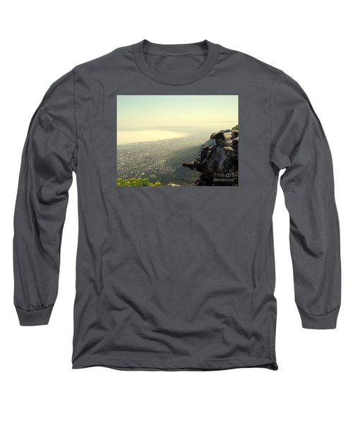 Cape Town View From Table Rock Long Sleeve T-Shirt by John Potts