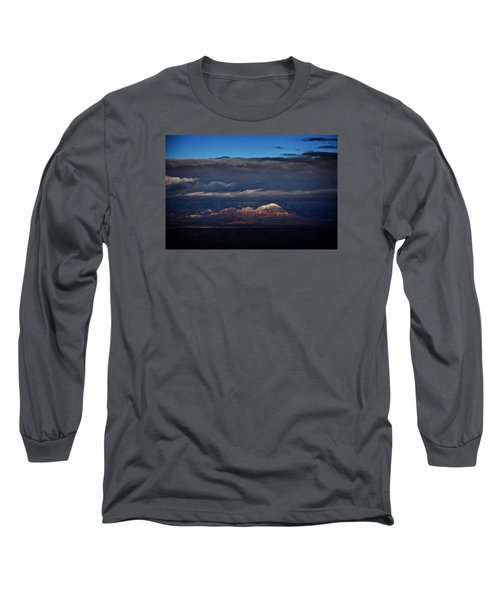 Long Sleeve T-Shirt featuring the photograph Capitol Butte In Sedona With Snow by Ron Chilston