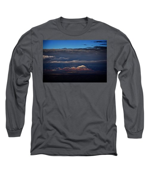Capitol Butte In Sedona With Snow Long Sleeve T-Shirt