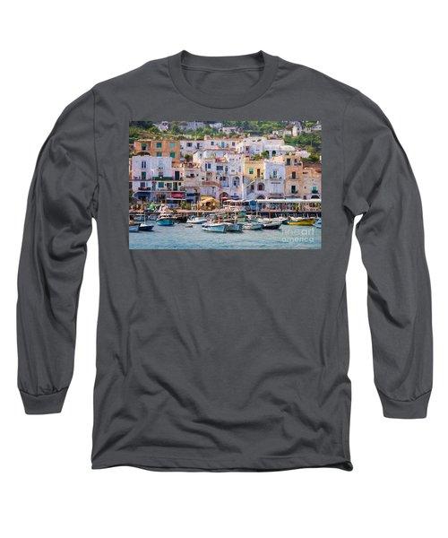 Capri Boat Harbor Long Sleeve T-Shirt