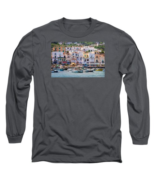 Capri Boat Harbor Long Sleeve T-Shirt