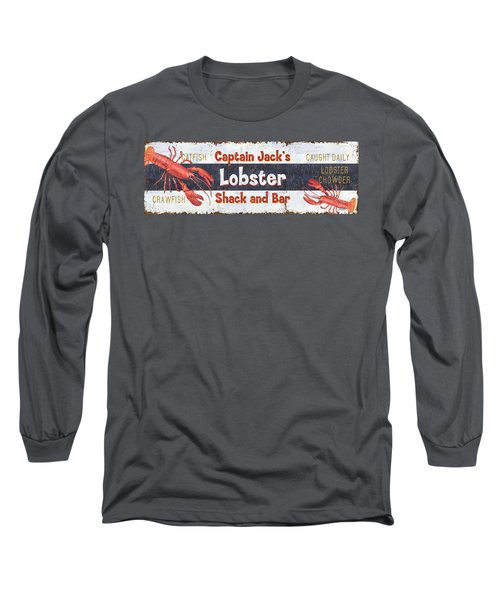 Captain Jack's Lobster Shack Long Sleeve T-Shirt by Debbie DeWitt