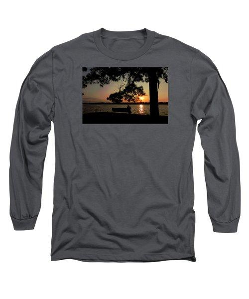 Capturing The Sunset Long Sleeve T-Shirt by Teresa Schomig