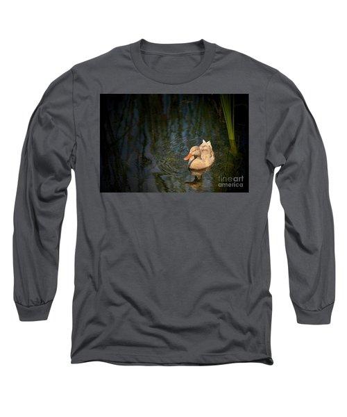 Caramel Mallard Long Sleeve T-Shirt by Pamela Blizzard