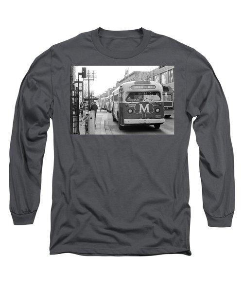 Caravan Of Buses On Nicollet Mall Long Sleeve T-Shirt