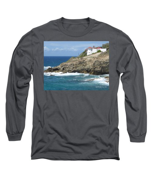 Caribbean Coastal Villa Long Sleeve T-Shirt